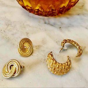 Vintage crescent moon earrings